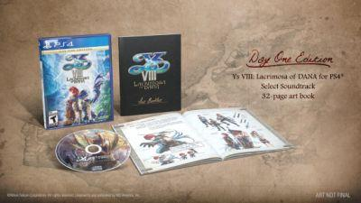Ys VIII: Lacrimosa of Dana Day One Edition Includes a Soundtrack and Art Book
