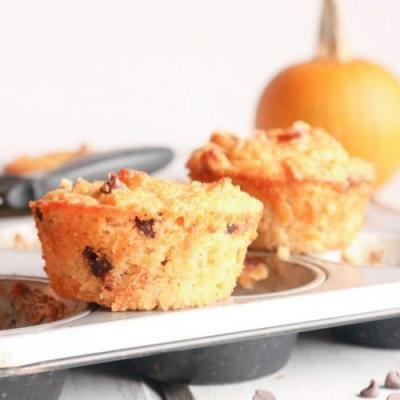 Grain Free Pumpkin Chocolate Chip Muffin