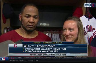 Edwin Encarnacion reacts to first walk-off with Indians: 'It's great'