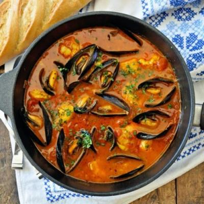 One-Pot Spicy Spanish Seafood Stew
