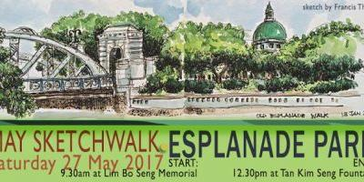 May Sketchwalk at Esplanade Park