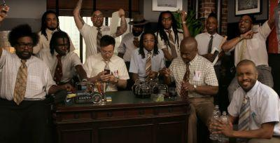 "Here's The Migos Dressed as Nerds Playing ""Bad and Boujee"" with Fallon and the Roots"