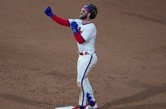 Bryce Harper goes 3-for-3 with two RBI, Phillies edge Blue Jays, 8-7