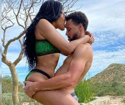 Ayesha Curry straddles husband Steph Curry in sexy vacation snap
