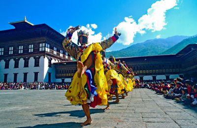 Dancers at Thimpu Festival - Bhutan Photo of the Day