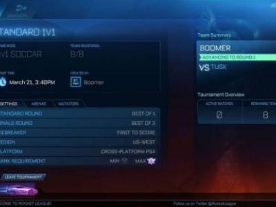 Rocket League Tournament Mode Coming With Update in April