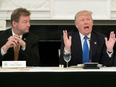 'He wants to remain senator, doesn't he?': Trump singles out GOP senator sitting next to him on healthcare bill opposition