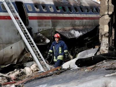 A military cargo plane full of meat crashed in Iran, killing everyone but a flight engineer on board, army says