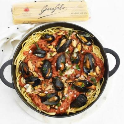 Mussels Pasta Recipe with Red Sauce