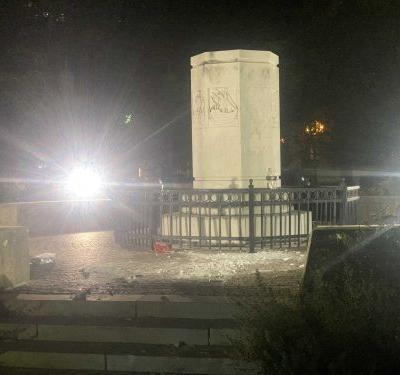 Christopher Columbus statue removed from Columbus Park