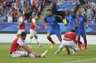 Giroud scores hat trick as France crushes Paraguay 5-0