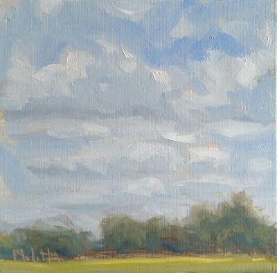 Contemporary Impressionism October Landscape Clouds