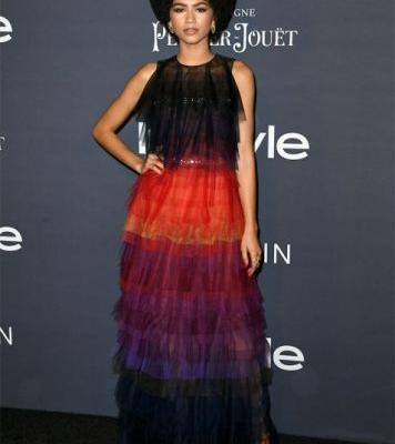 Zendaya's Afro Wins the InStyle Awards Red Carpet