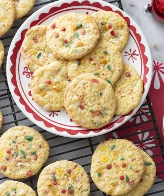 Cake Mix Sprinkle Cookies