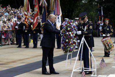 Trump hails heroes, lays wreath to mark Memorial Day
