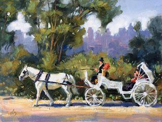 NY HORSE DRAWN CARRIAGE by TOM BROWN