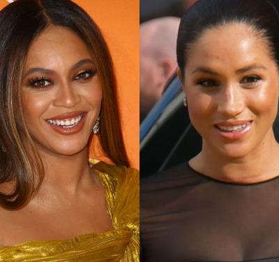 Fans are convinced Beyoncé greeted Meghan Markle with 'my princess' at the 'Lion King' premiere