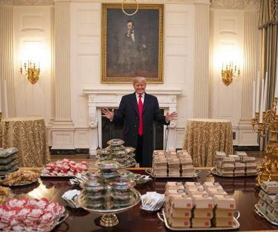 'American fast food': Trump celebrates champion Clemson with burgers, pizza