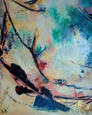 Zephyrs - Abstract Acrylic Painting by Arizona Artist, Sharon, Sieben