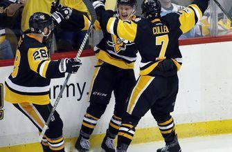 Guentzel's goal lifts Penguins by Predators 5-3 in Game 1