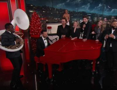 Watch Bono, Chris Martin, Diddy, Others Do Goofy Shit On Jimmy Kimmel's Annual Show