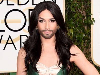 Great Outfits in Fashion History: Conchita Wurst's High Glam 2015 Golden Globes Look
