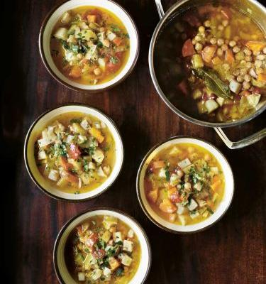 Recipe: Soup of Israel (chickpea, carrot and seasonal vegetable soup)