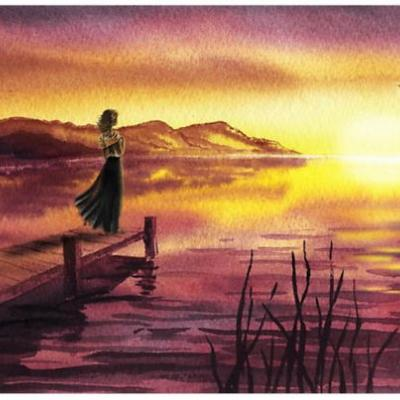 Bestselling Landscape Paintings Watercolor For Home Decor