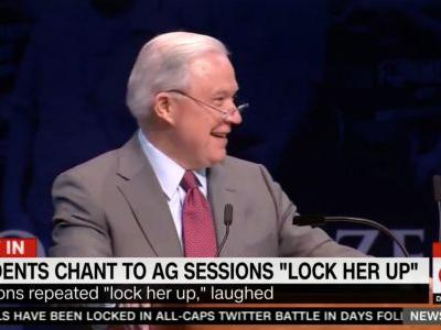 Jeff Sessions Gets Roasted For Cackling at 'Lock Her Up' Chant: 'A Low Point in a Sea of Low Points'