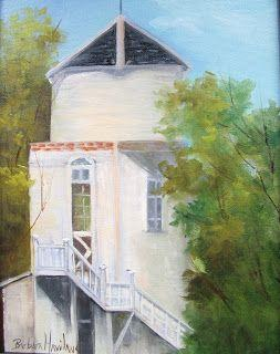 Plein Air at George Ranch,oils canvas,Barbara Haviland Texas Landscape Artist