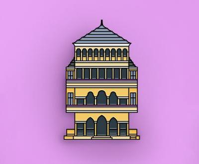 Enamel Pins Turn International Architectural Destinations Into Pocket-Sized Accessories