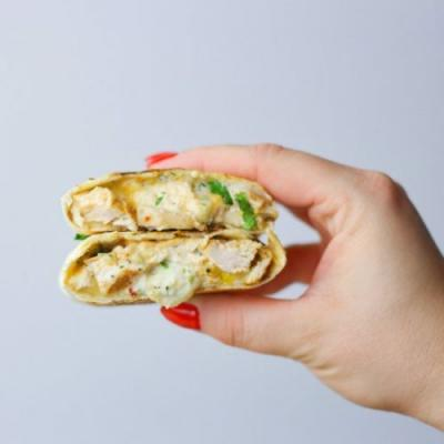 Wraps with grilled chicken
