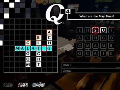 Persona 5 Royal All Crossword Puzzles and Answers