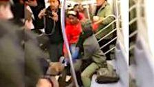 Pit Bull Attacks Woman On New York Subway
