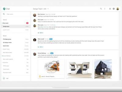 Google launches Hangouts Chat, its Slack competitor, for all G Suite users