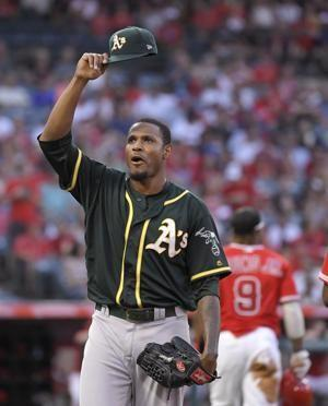 Laureano makes great play as Athletics beat Angels 7-0