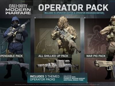 Call of Duty: Modern Warfare's Operator Packs are basically Rainbow Six Siege's Elite Sets