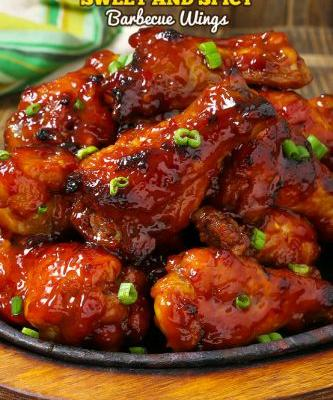 Slow Cooker Sweet and Spicy Barbecue Wings