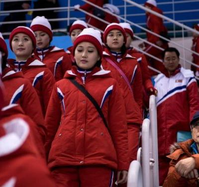 You know those North Korean cheerleading squads? South Korea will pay their bills