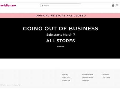 Charlotte Russe closing all remaining stores, 'going out of business' sales begin