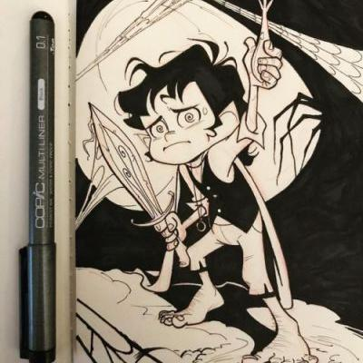 """Inktober2017 Day 6 - """"Sword"""" May it be a light to you in dark"""