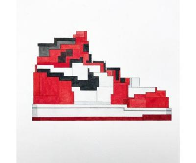 Advent Calendar Day 16: Adam Lister 'Air Jordan 1' Painting