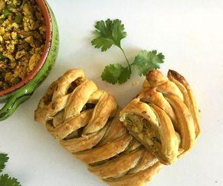 Indian Spiced Tofu Puff Pastry Braid