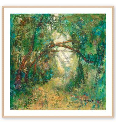"""FINE ART PRINT,Contemporary Impressionist Landscape, """"In Solitude Gratitude Expressed"""" by Passionate Purposeful Painter Holly Hunter Berry"""