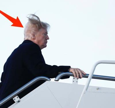 Trump just said he tries 'like hell' to cover up his bald spot - and it helps solve the mystery of his hair