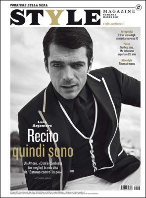 Luca Argentero in Dolce&Gabbana on the cover of Style