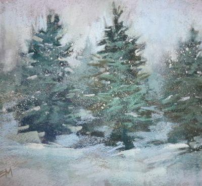 A Quick Tip for Painting Falling Snow