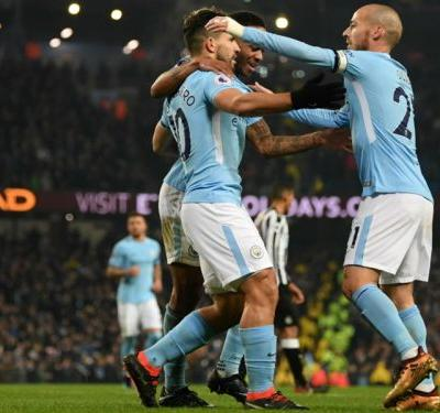 Manchester City 3 Newcastle United 1: Aguero hat-trick sees pacesetters bounce back
