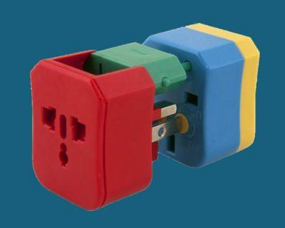 This color-coded travel adapter works in over 150 countries and makes figuring out what plug to use easy