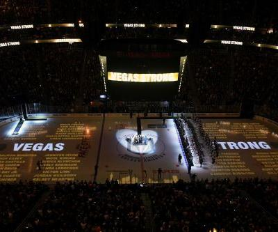 Vegas Golden Knights honor shooting victims at home opener